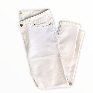 ZARA | Basic White Skinny Jeans with Zipper Detail